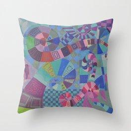 "Moo's Mom's Abstract art ""Alice Swirl"" Throw Pillow"