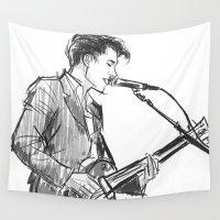 alex turner Wall Tapestries featuring alex turner [4] by roanne Q