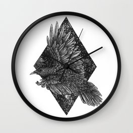 Cosmic Raven Wall Clock