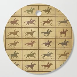 Time Lapse Motion Study Horse muted Cutting Board