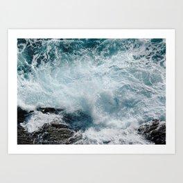 Cinque Terre Waves, Monterosso Art Print