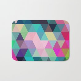 Colorful, Triangular  low poly, mosaic pattern background, Vector polygonal illustration graphic, Cr Bath Mat