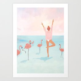 Big Flamingo Art Print