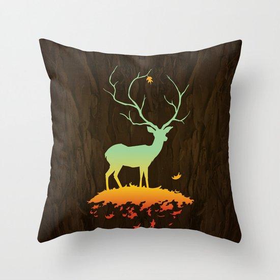 Fawn and Flora Throw Pillow