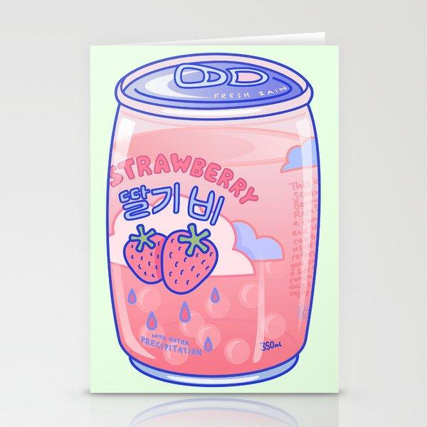 Strawberry Rain Stationery Cards