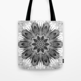 Beautiful Black White Flower Abstract Tote Bag