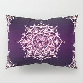 Violet Glowing Spirit Mandala Pillow Sham