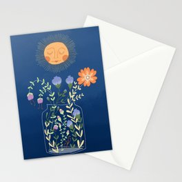 Sunshine Over Flowers Stationery Cards