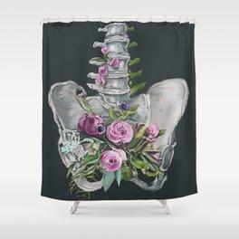 Floral Pelvis - gray background Shower Curtain