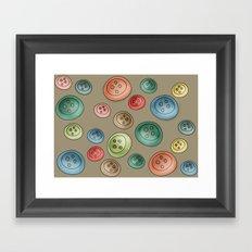 Buttons {Polka buttons} Framed Art Print