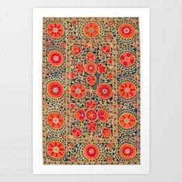 Kermina Suzani Uzbekistan Print Art Print