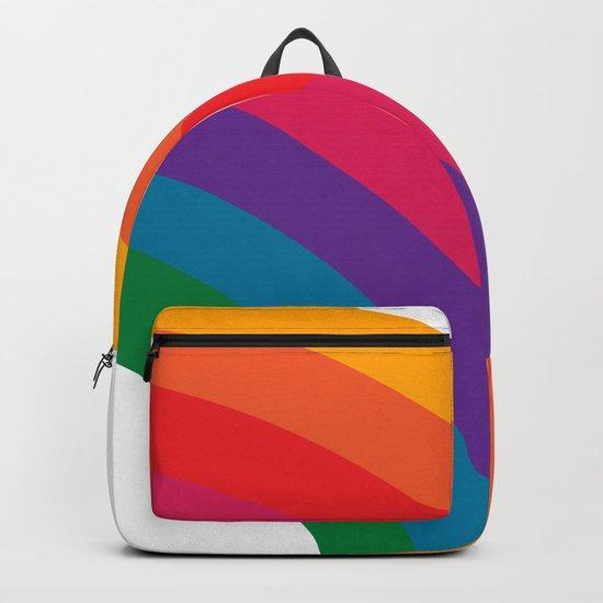 Retro Bright Rainbow - Right Side by circa78designs