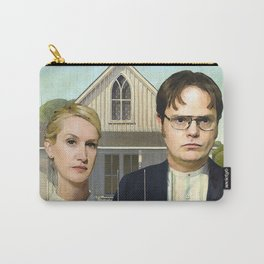 Dwight And Angela American Gothic Carry-All Pouch