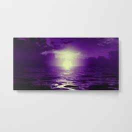 Purple cloud landscape by #Bizzartino Metal Print