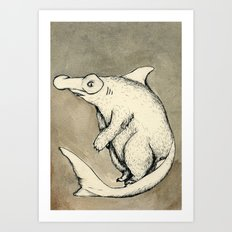 BearShark Art Print