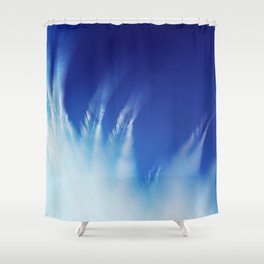 White Feathers Floating Up to Heaven Shower Curtain