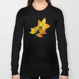 Autumn Leaves Azure Sky Long Sleeve T-shirt