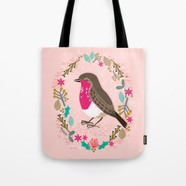 European Robin by Andrea Lauren  Tote Bag