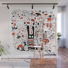 Choose a Hole - Doodle Wall Mural