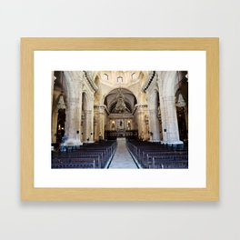 A Sacred Place in the Worn City Framed Art Print