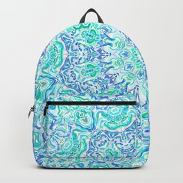 Aqua Kaleidoscope 6 Backpack