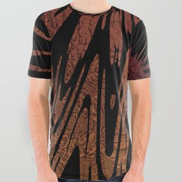 Native Tapestry in Burnt Umber All Over Graphic Tee
