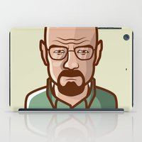 walter white iPad Cases featuring Walter White by Sherif Adel