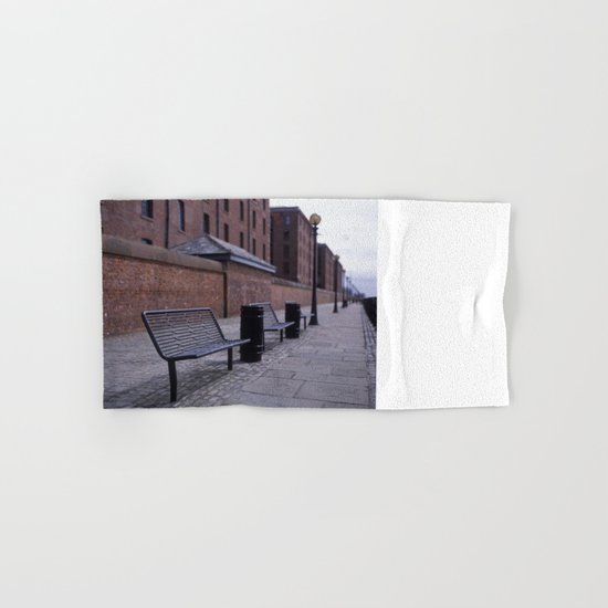 a row of benches Hand & Bath Towel