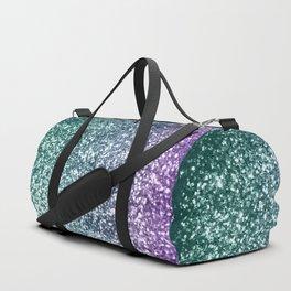 Aqua Purple Ombre Glitter #4 #decor #art #society6 Duffle Bag