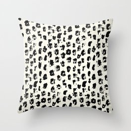 Tribal Spot Black Earth on Ivory Throw Pillow