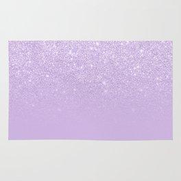 Modern pastel purple lavender ombre glitter color block Rug