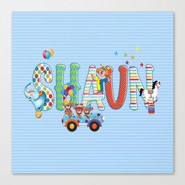 Shaun / Personalised Children's  Name Canvas Print