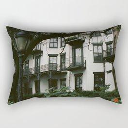 White Brooklyn Building Rectangular Pillow