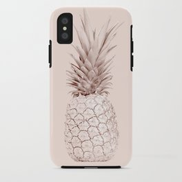 Rose Gold Pineapple on Blush Pink iPhone Case