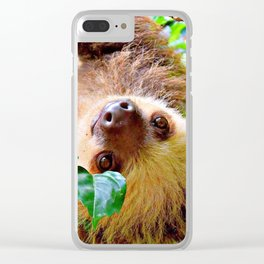 Awesome Sloth Clear iPhone Case