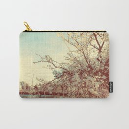 Hello Spring! (White Cherry Blossom by the Lake) Carry-All Pouch