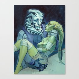 Velenis and his Monster Bride Canvas Print