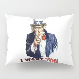 Uncle Sam I Want You Pillow Sham