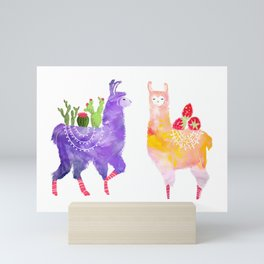 Llama Party Mini Art Print