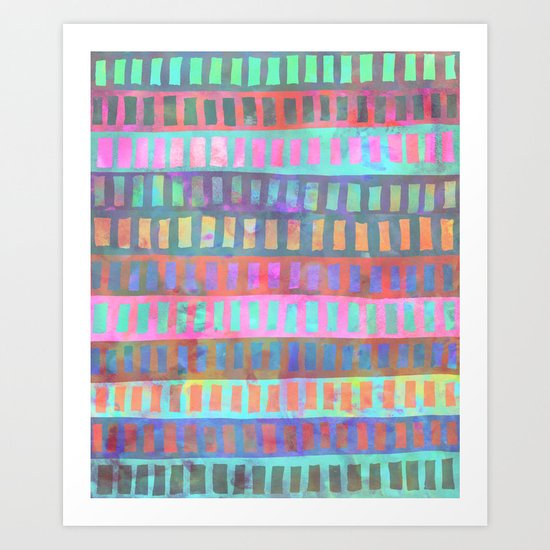 PATTERN {Geometric 002} Art Print