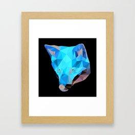Lowpoly Fox Framed Art Print