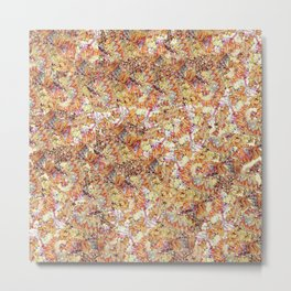 Modern orange faux gold glitter abstract pattern Metal Print