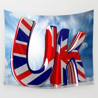 uk Wall Tapestries featuring UK - United Kingdom by Carlo Toffolo