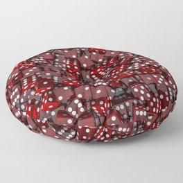 Red dice Floor Pillow