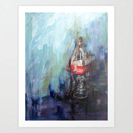 Cola Bottle Art Print