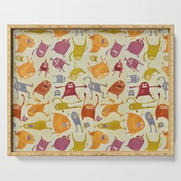Watercolor Critter Pattern Alpha Serving Tray