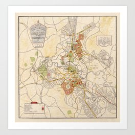 Map of Canberra 1927 Art Print