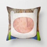 finn Throw Pillows featuring finn by MAKE ME SOME ART
