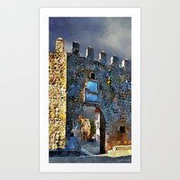 medieval Art Prints featuring Medieval Gate by Miguel A. Martin