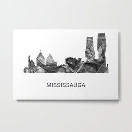 Mississauga Ontario Canada Skyline WB-BW Metal Print